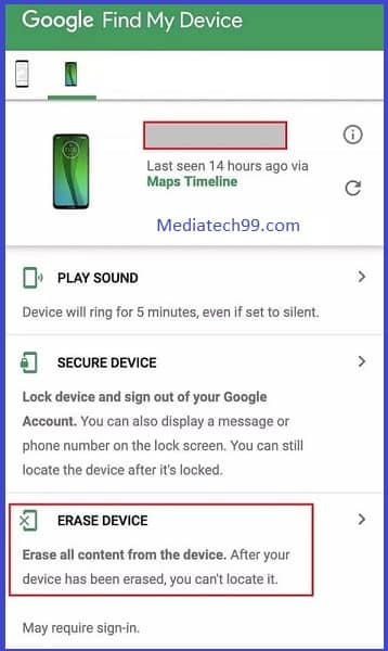 Find, lock, or erase a lost Android device