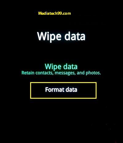 Realme hard reset Format option