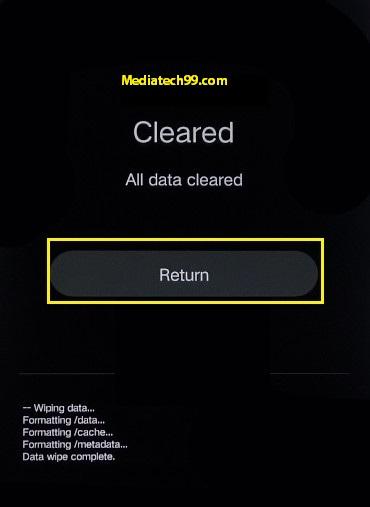 Vivo Hard Reset return option